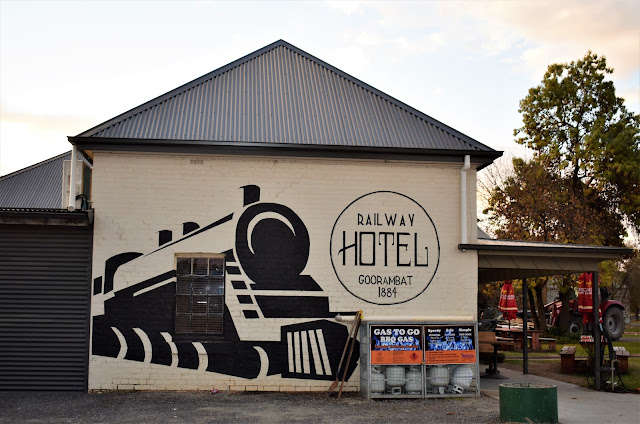 Goorambat Street Art   Goorambat Railway Hotel Mural