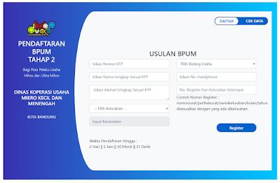 Cara Daftar BLT UMKM Kota Bandung di https://umkmbandung.online/daftarBPUMtahap2