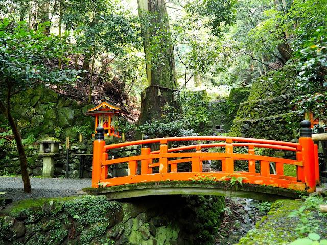 Bridge on the hiking path from Kurama to Kibune, Kyoto, Japan