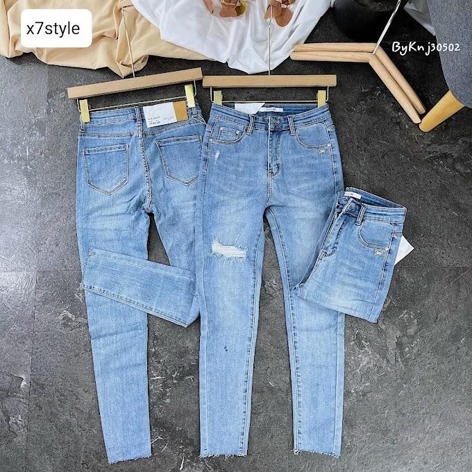 Quần jean ôm nữ- X7FQJN16