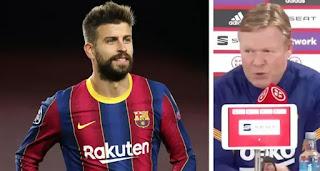 Barcelona boss speaks on Pique injury update ahead of Copa final