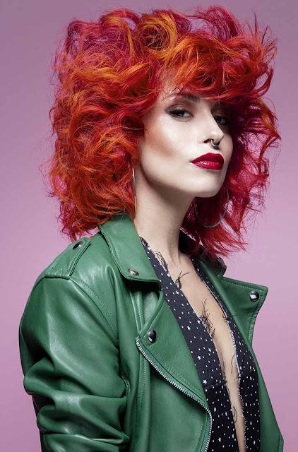 color de pelo rojo-naranja