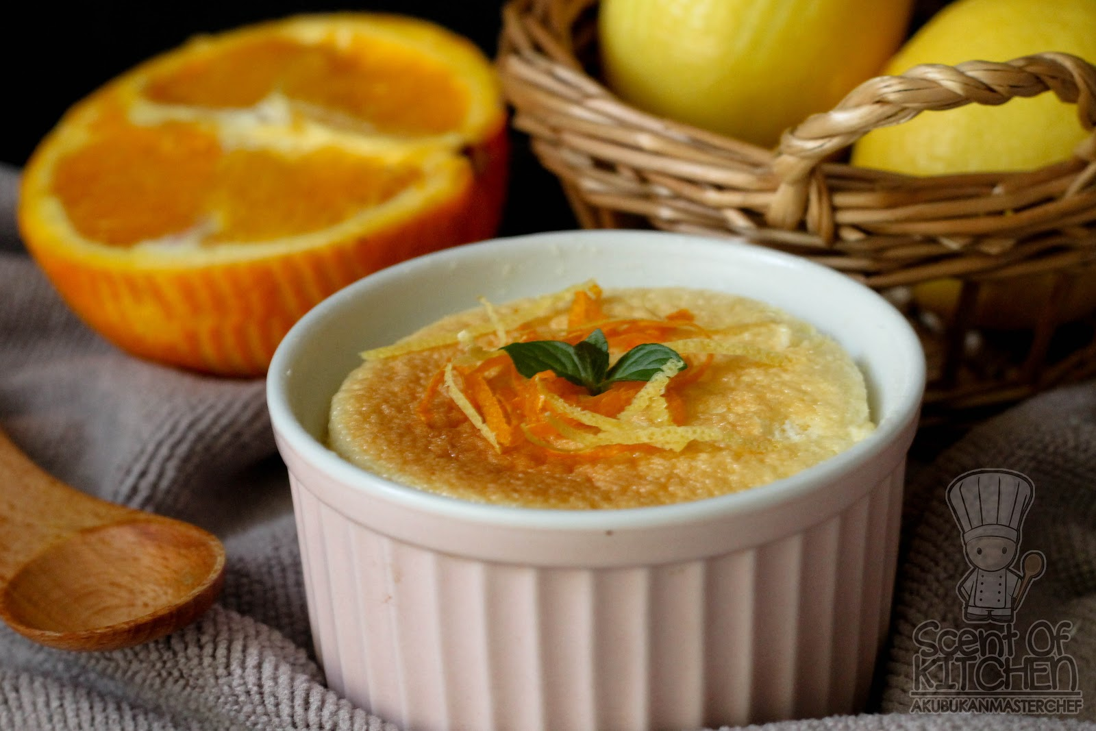 resepi   saucing spongy lemon orange pudding Resepi Kek Guna Tepung Gandum Enak dan Mudah