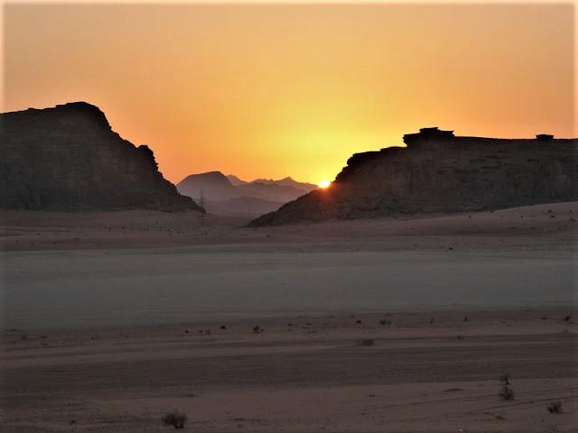 tramonto sul wadi rum