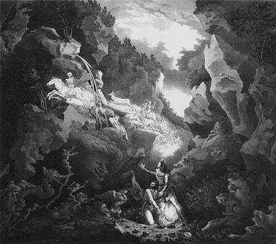 esign for Wolf's Glen Scene (Weber  'Der Freischütz') from Weimar, 1822