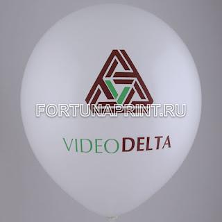 Воздушный шар с логотипом компании Videodelta