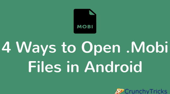 How to open .mobi files