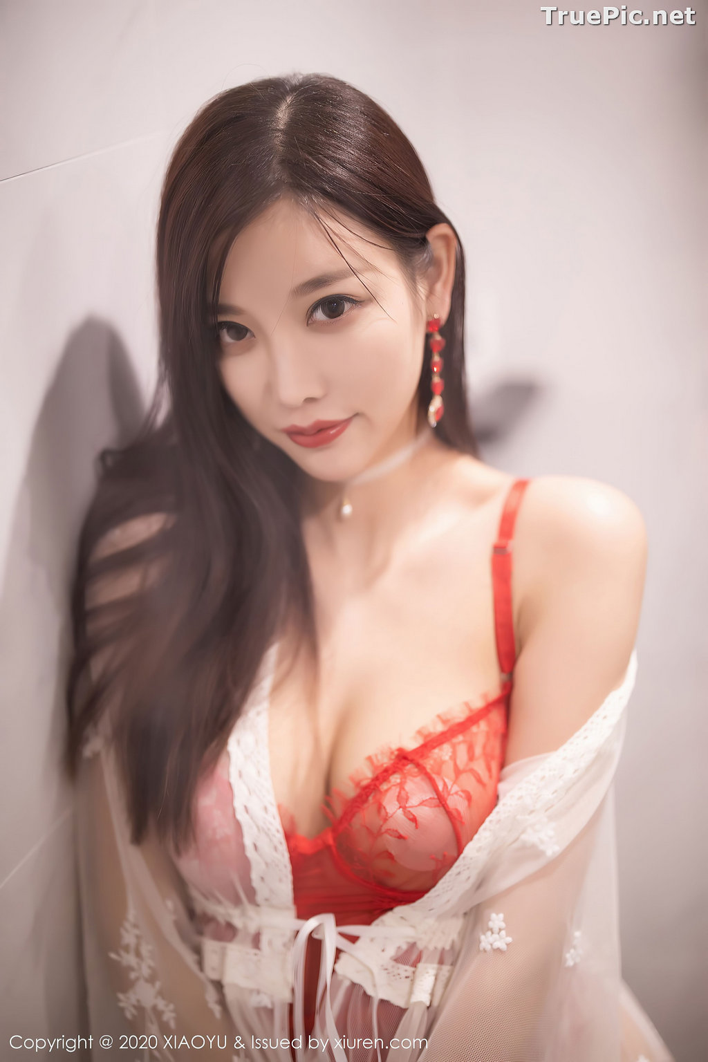 Image XiaoYu Vol.413 - Chinese Model - Yang Chen Chen (杨晨晨sugar)- Red Crystal-clear Lingerie - TruePic.net - Picture-2