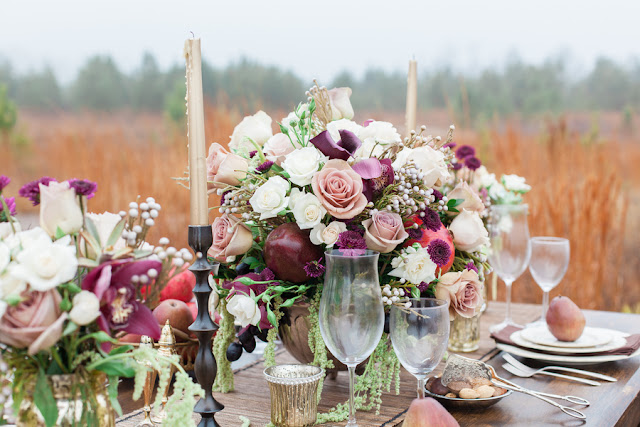 Bride Chic Fall Pinks