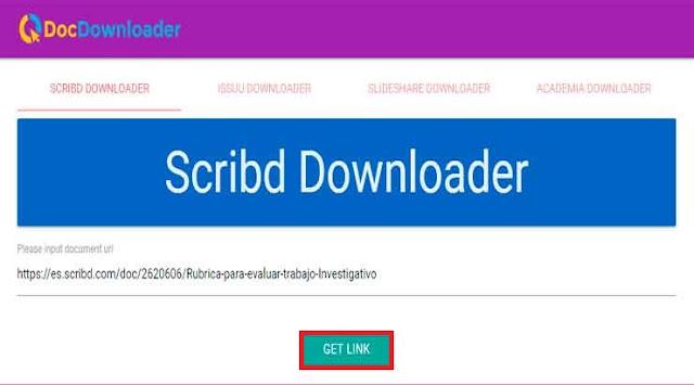 Descargar documentos de Scribd sin subir archivos