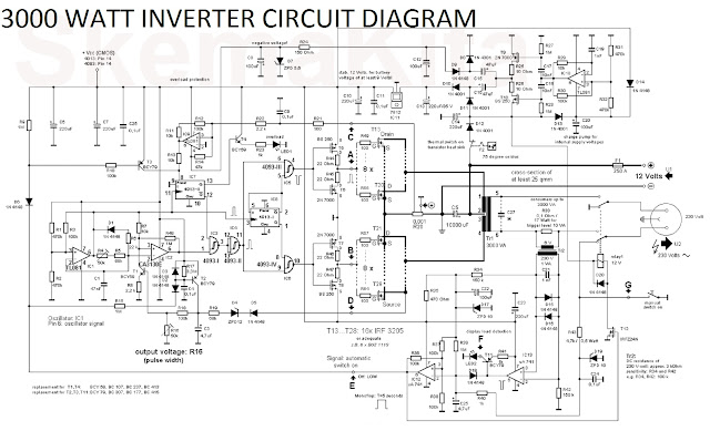3000 Watt Inverter Circuit Diagram