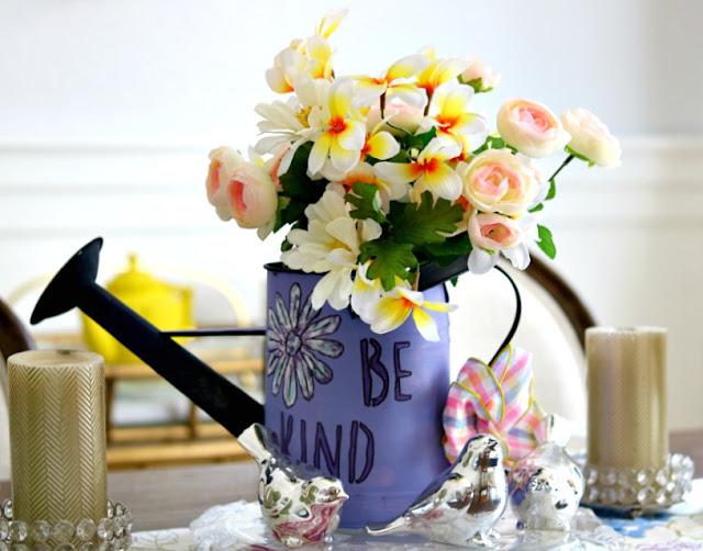 paint, watering, can, stencil, craft, easy, simple, garden, decor, maker, homemaker