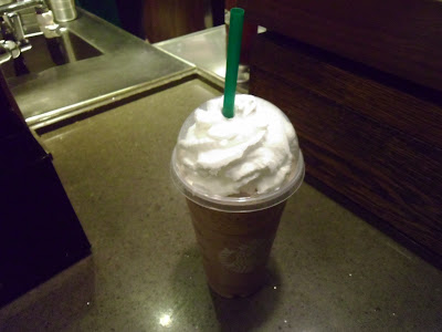 Venti Starbucks Java Chip Frappuccino with Sweetened Whipped Cream