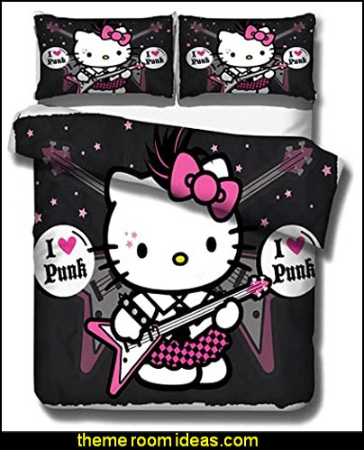 hello kitty bedding Hello Kitty Duvet Cover punk kitty punk hello kitty bedding