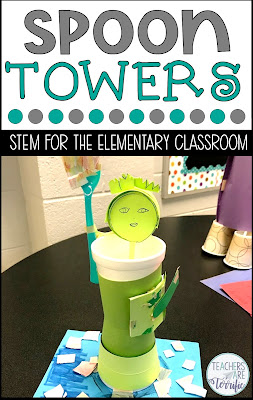 STEM Challenge- create a replica of a famous landmark and make a plastic spoon a functional part of your design!