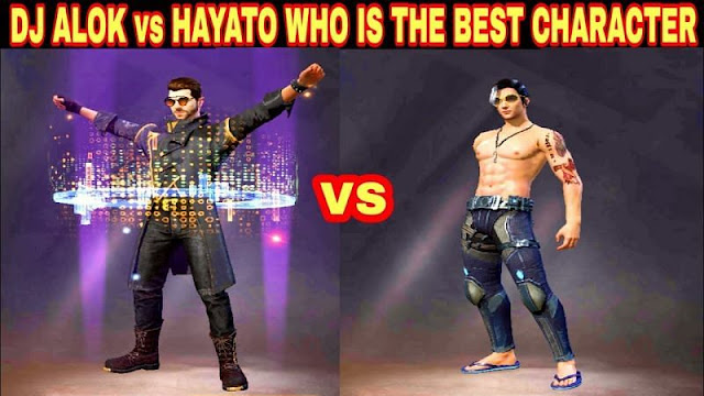 DJ Alok vs Hayato in Free Fire : Who is the best character in Free Firefor Ranked Mode?
