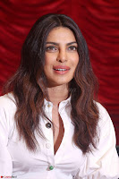 Priyanka Chopra in White Shirt and Colorful Skirt at Baywatch Press Conference  15th May 2017 ~  Exclusive 28.jpg