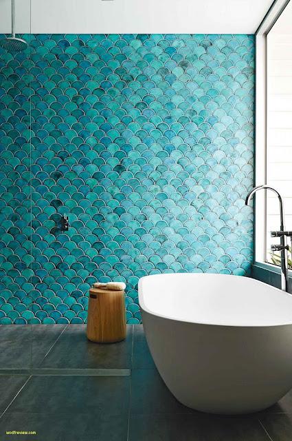 Thiết kế nội thất phòng tắm: Xu hướng màu ngọc lam năm 2019