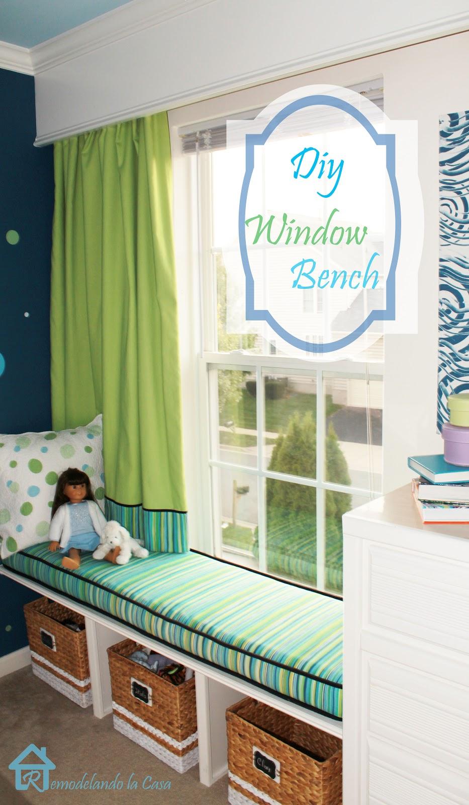 diy window bench remodelando la casa. Black Bedroom Furniture Sets. Home Design Ideas