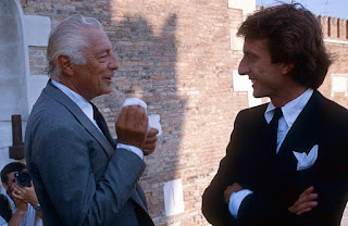 Montezemolo pictured in 1985 with Fiat chairman Gianni Agnelli, who made him a trusted lieutenant