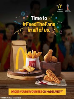 McDonalds  Offer  Enjoy Free McFlurry or Soft Serve on purchase of any Medium or Large Meal