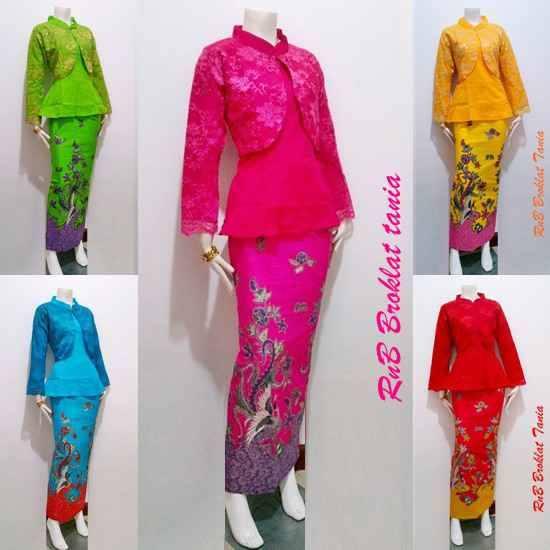 Baju Batik Model Setelan Atasan dan Bawahan Rok Panjang