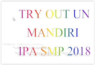 TRY OUT MANDIRI IPA SMP