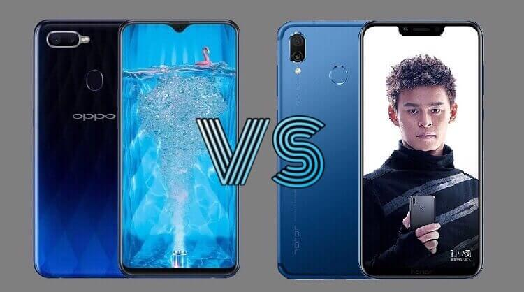 OPPO F9 versus Honor Play