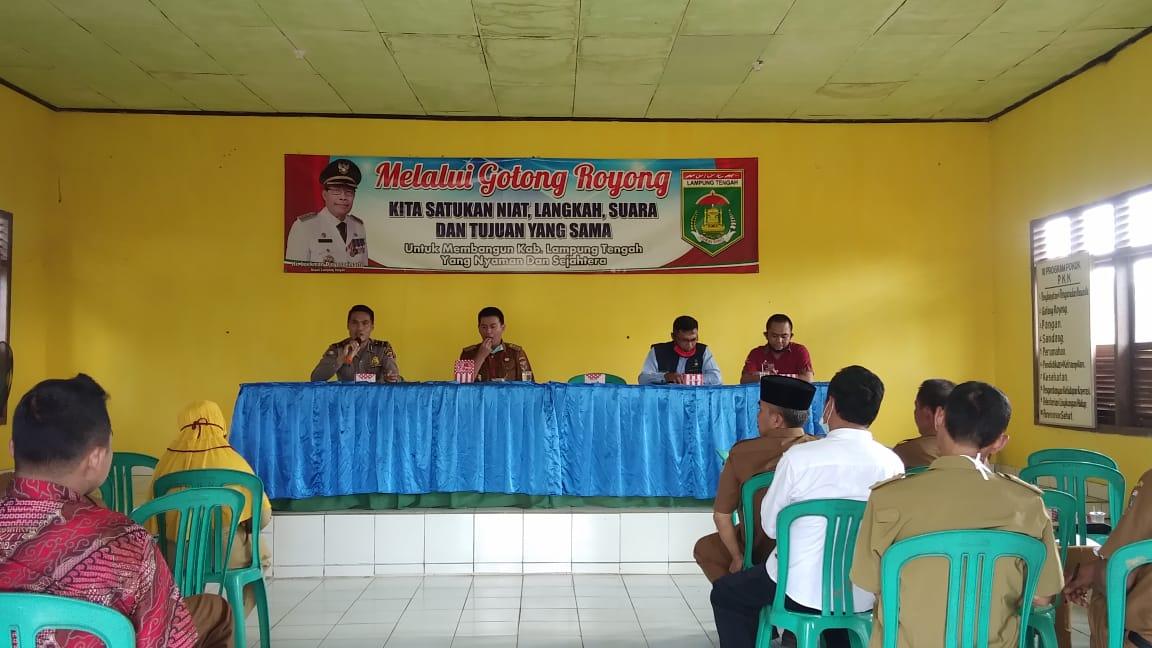 Kecamatan Way pengubuan menggelar musyawarah terkait penambahan Kuota Bantuan sosial Tunai (BST)