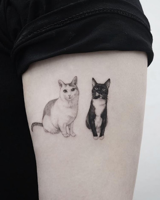 Tatuagens de cachorro e gato
