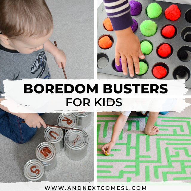 Boredom buster for kids