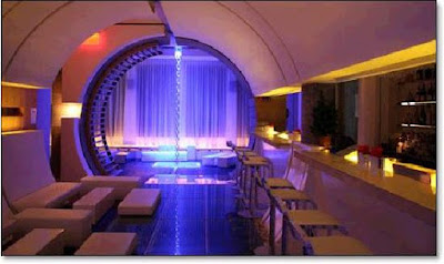 futuristic Maru Bar in Koreatown, NY