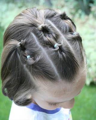 peinado para niñas con el cabello corto recogido