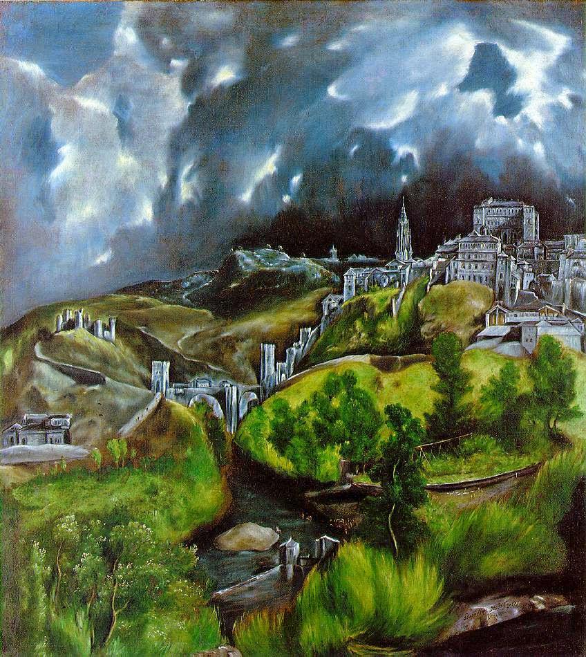 Vista do Toledo - El Greco e suas principais pinturas ~ Maneirismo