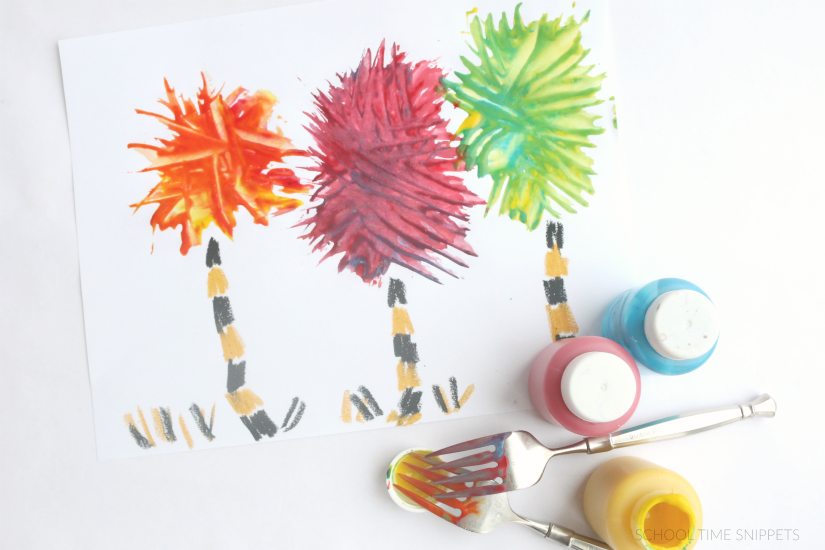 Dr. Seuss Truffula Tree Craft Project