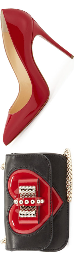 Christian Louboutin Sweety Charity Valentine Shoulder Bag, Black/Red