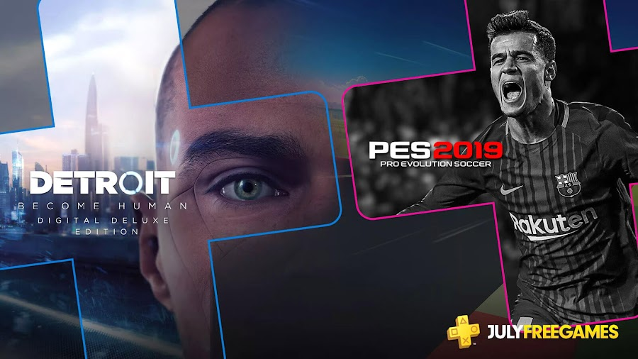 ps plus july 2019 free games detroit become human ps4 sony pes 2019 quantic dream