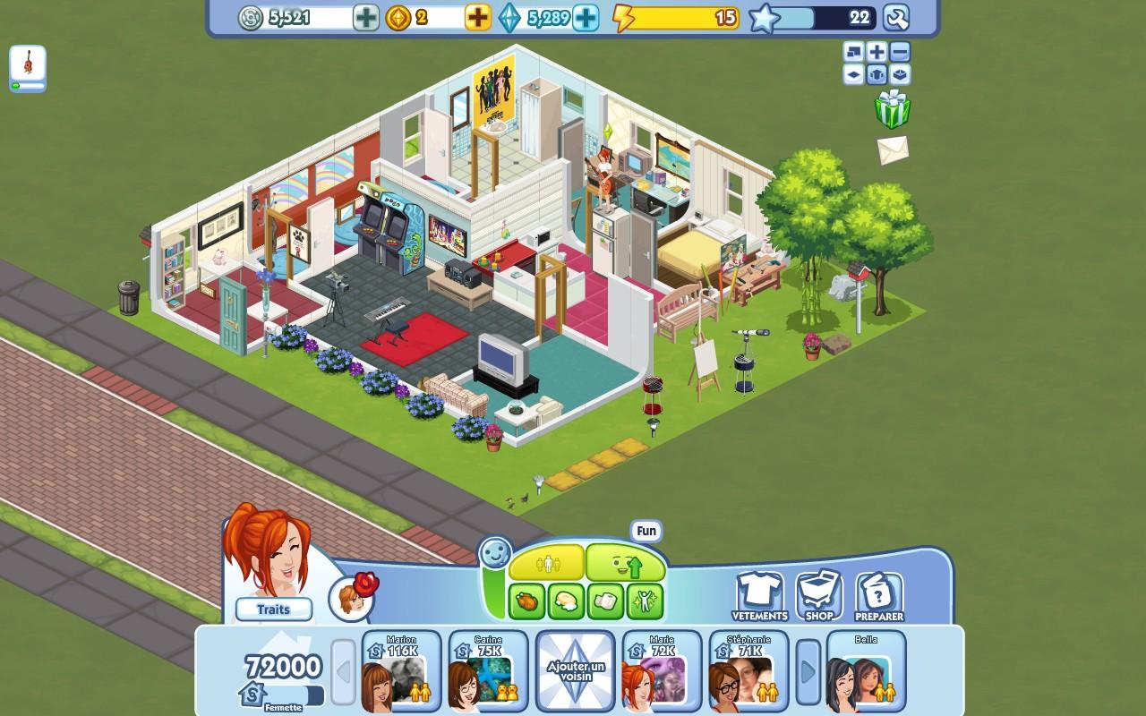 the sims social le blog plans de maisons. Black Bedroom Furniture Sets. Home Design Ideas