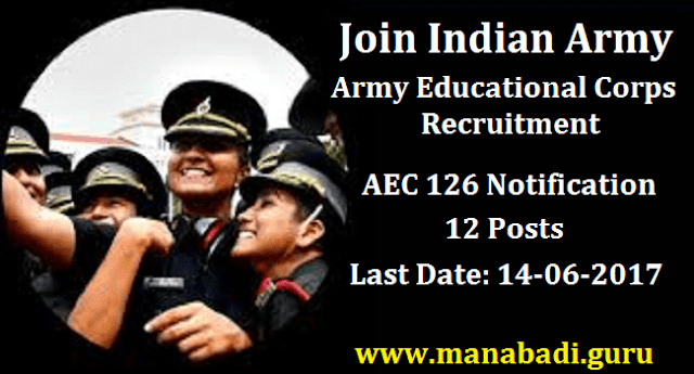 All India Jobs, Educational Corps of Indian Army, Army Educational Corps, Army Jobs, Indian army, Central govt jobs, Govt Jobs, Police Jobs, www.joinindianarmy.nic.in