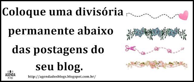 Divisórias para blogs