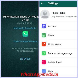 PTWhatsApp v7.50 WhatsAppMods.in