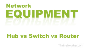 Hub vs Switch vs Router