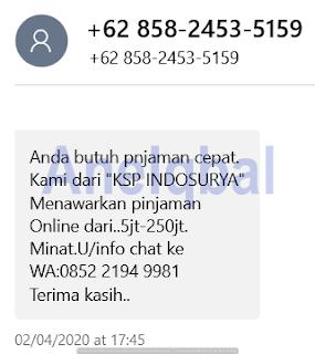 contoh penipuan SMS
