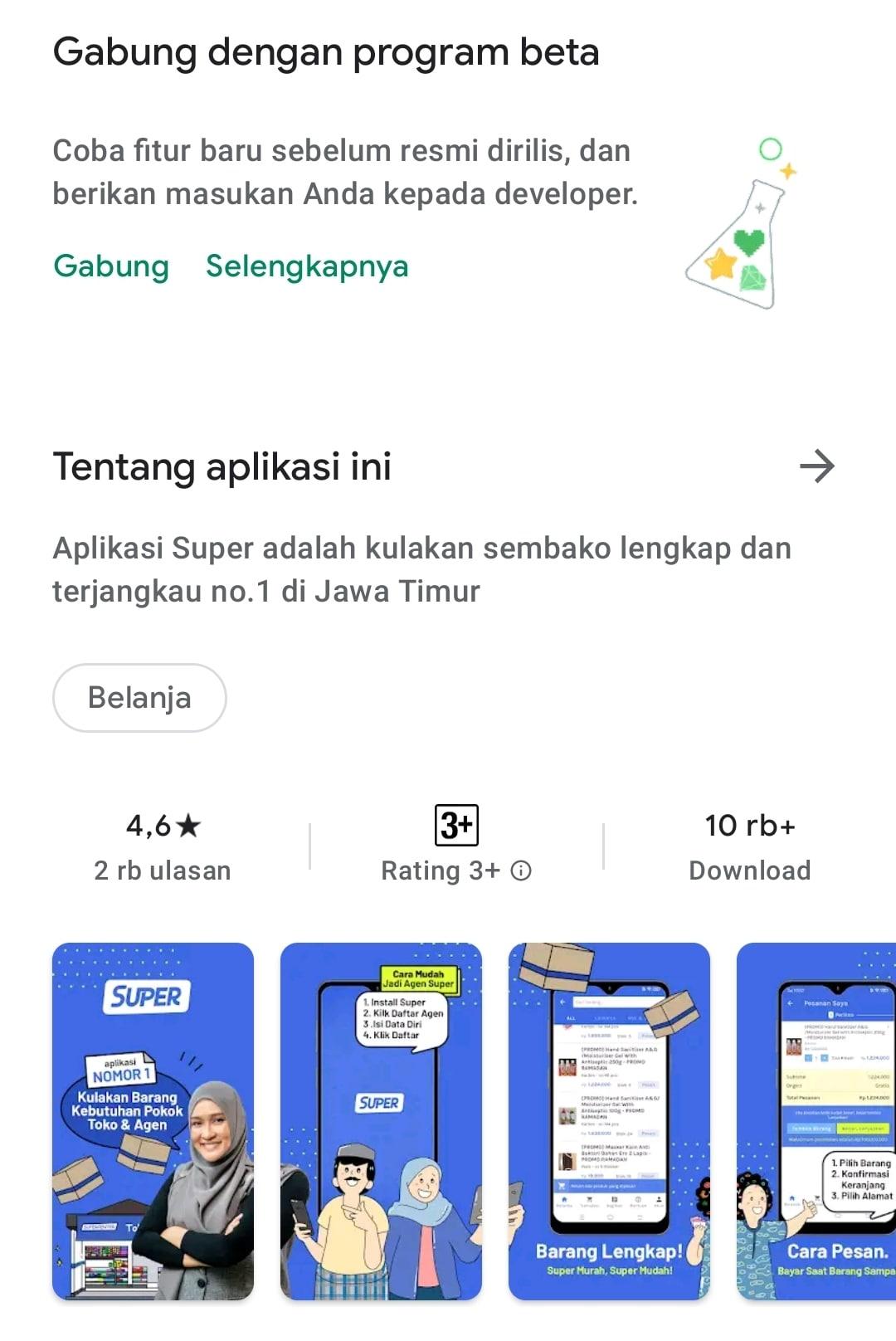Aplikasi Super-Kulakan Sembako Jawa Timur