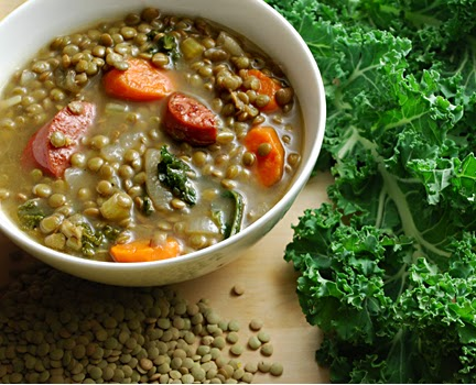 Healthy Lentil Kale Soup