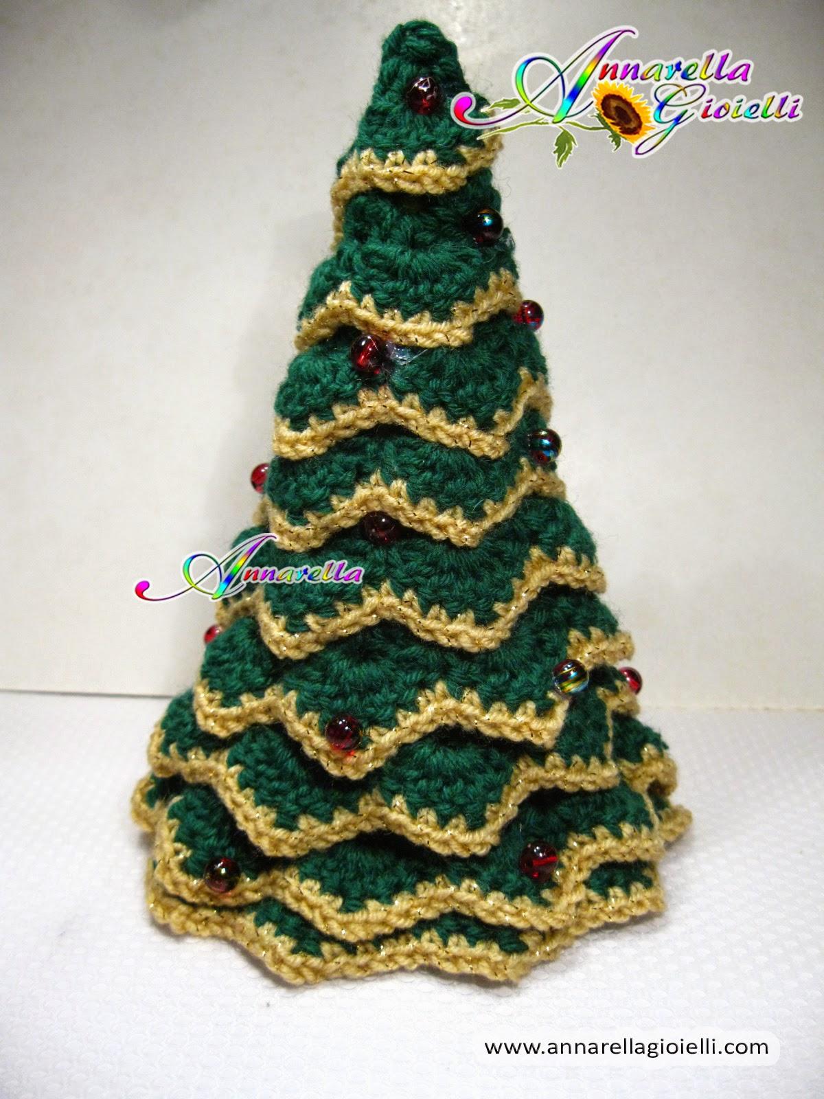 Albero Di Natale Uncinetto.Annarella Gioielli Tutorial Albero Di Natale All Uncinetto Senza