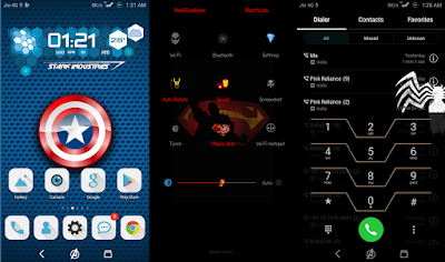 Superhero Theme For Huawei Emui 4 / 5