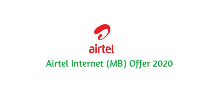 Airtel Internet (MB) Offer 2021