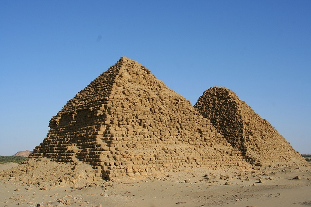 Five pyramid locations where Sudan pyramids mostly located Meroë Pyramids, El-Kurru Pyramids, Nuri Pyramids, Jebel Barkal Pyramids and Sedeinga Pyramids
