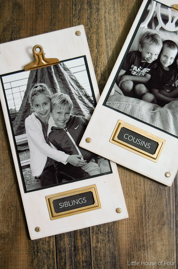 {Monthly DIY Challenge} DIY Wood Photo Plaques - Little House of Four